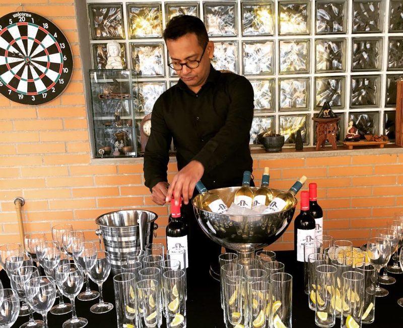 barman en catering madrid el madroño
